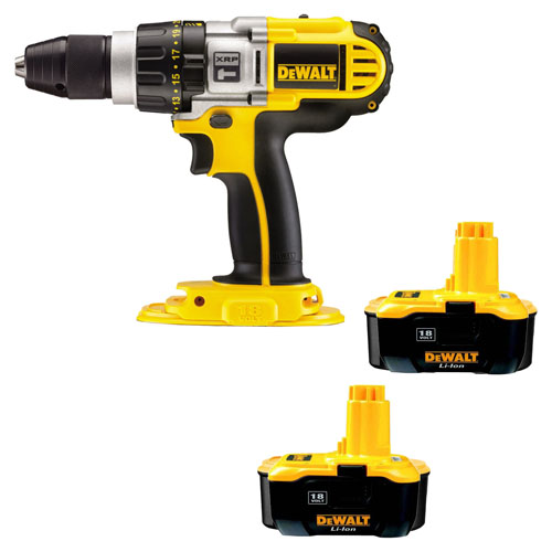 dewalt 18v xrp dcd925n combi drill and 2 de9180 batteries. Black Bedroom Furniture Sets. Home Design Ideas